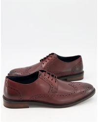 Moss Bros Moss london - chaussures derby style richelieu - bordeaux - Rouge