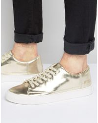 SYSTVM - Lo Trainers In Gold - Lyst