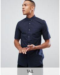 French Connection Рубашка В Горошек Tall-темно-синий