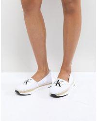 Calvin Klein - Genna Canvas Espadrille Shoes - Lyst