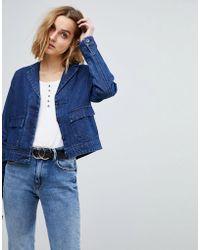 Vero Moda - Denim Worker Jacket - Lyst