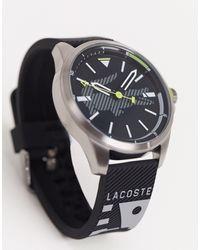 Lacoste – Uhr mit schwarzem Zifferblatt und schwarzem Armband
