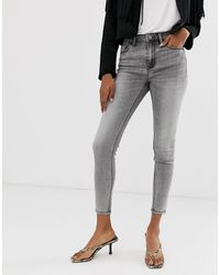 Stradivarius High Waist Jeans - Grey