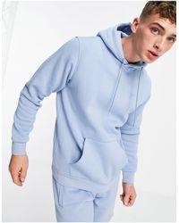 adidas Originals Худи Небесно-голубого Цвета С Логотипом-трилистником Marshmallow-голубой - Синий