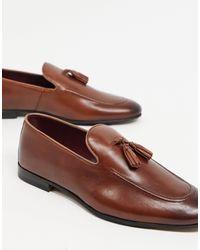 Walk London - Светло-коричневые Кожаные Лоферы С Кисточками Из Махровой Ткани -коричневый Цвет - Lyst