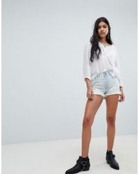 One Teaspoon - Bonita High Rise Denim Shorts With Raw Hem - Lyst