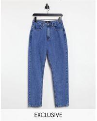 Daisy Street Jean mom - Indigo - Bleu