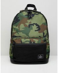 ASOS - Design Backpack In Khaki Camo - Lyst