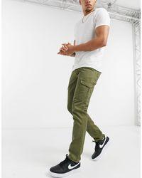 Tom Tailor Slim Cargo Trackies - Green