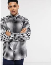 Fred Perry Gingham Check Shirt - White