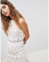 New Look - Lace Crop Top Co-ord - Lyst