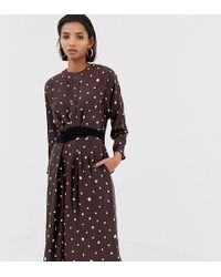 Mango Metallic Polka Dot Dress - Black