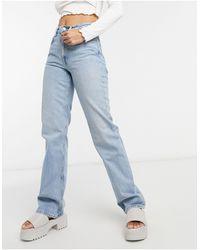 Weekday Voyage - Jeans dritti a vita alta - Blu