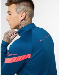 Nike Football Dry Academy Half Zip Long Sleeve Top - Blue