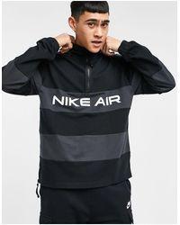 Nike Air - Sweater Met Streep En Korte Rits - Zwart