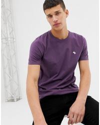 Abercrombie & Fitch - Icon Logo T-shirt In Purple - Lyst