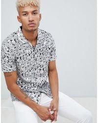 ASOS - Regular Fit Sequin Geo Shirt In Silver - Lyst