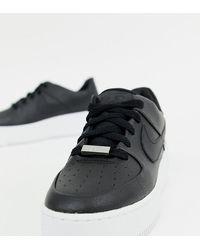 Nike Черные Низкие Кроссовки Air Force 1 Sage - Черный