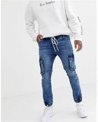 ASOS Super Skinny Biker jogger Jeans - Blue