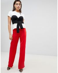 Ivyrevel - Wide Leg Trousers With Knot Detail At Waist - Lyst