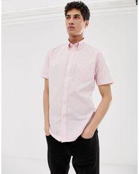 Ben Sherman Оксфордская Рубашка С Короткими Рукавами -розовый