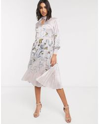 Ted Baker Doxie Everglade Floral Midi Dress - Pink