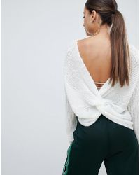 Missguided - Twist Back Jumper - Lyst
