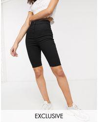 Collusion Pantalones vaqueros cortos muy ajustados - Negro