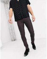 ASOS - Jean super skinny en similicuir enduit - Lyst