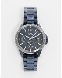 HUGO Montre bracelet pour homme - Bleu marine