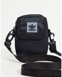 adidas Originals Logo Cross Body Bag - Black
