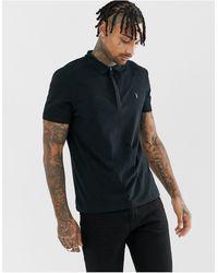 AllSaints Черная Футболка-поло С Логотипом -черный Цвет