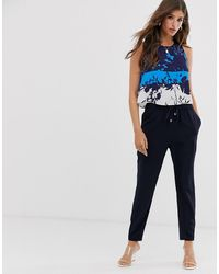 Ted Baker Smarah - Jumpsuit Met Print - Blauw