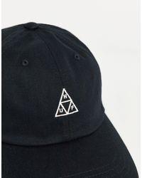 Huf Essentials Triple Triangle Logo Cv 6 Panel Cap - Black