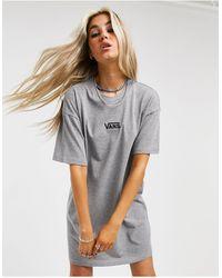 Vans Серое Платье-футболка Center Vee-серый
