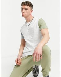 Nike - T-shirt colorblock bianco/multicolore - Lyst