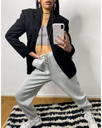 Weekday Sara Waisted Blazer - Black