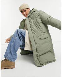 ASOS Puffer Parka Jacket - Green