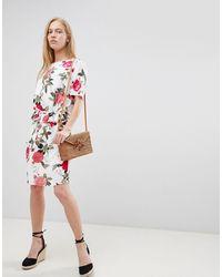 B.Young Floral Waist Detail Dress - Multicolour