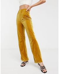 Glamorous Wide Leg Trousers - Yellow