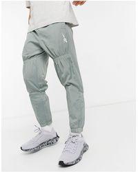 Reebok Woven Drawstring Track Trousers - Green