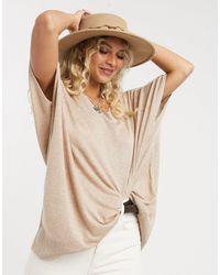 Vero Moda Светло-коричневый Джемпер Oversized -коричневый Цвет