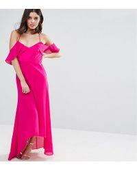 True Decadence - Td By Cold Shoulder Maxi Dress - Lyst