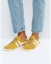Gola - Bullet Suede Trainers In Mustard - Lyst