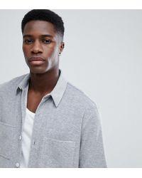 Noak Short Sleeve Shirt In Towelling - Gray