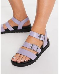 Schuh Exclusive Chaser Leather Sandals - Purple