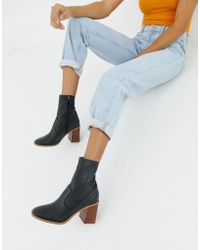 ASOS - Evaline Leather Ankle Boots - Lyst