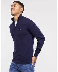 Lacoste Half Zip Wool Jumper - Black