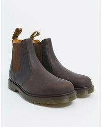 Dr. Martens - Коричневые Ботинки Челси Dr.martens 2976-коричневый Цвет - Lyst