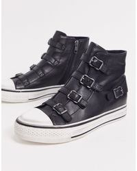 Ash Virgin High Top Buckled Trainers - Black